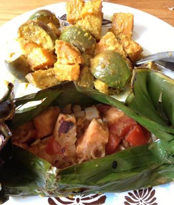 Saumon en papillote - Un dîner à Bali