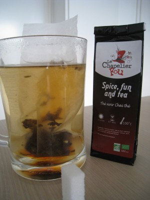 Début d'infusion pour Spice, fun and tea du Chapelier Fou