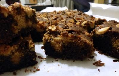 Brownie au beurre de cacahuètes
