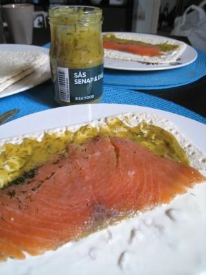 Sandwich arctique au saumon Ikea