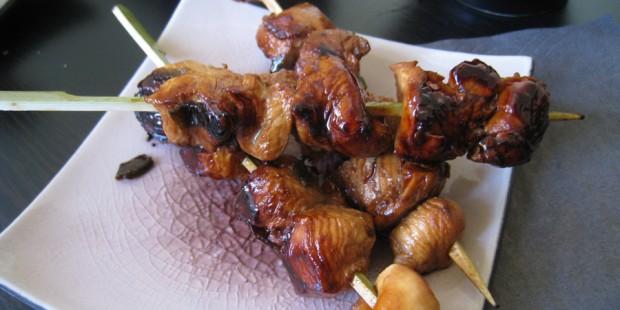 Brochettes de poulet au satay