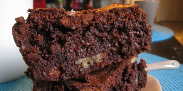 Mon premier brownie - choco et pécan